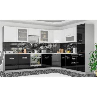 Кухня Кармен 2 м зі стільницею білий / червоний Меблі-Сервіс