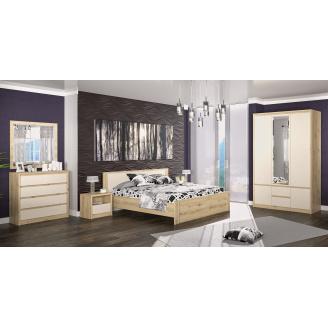 Спальня Меблі-Сервіс Домініка 5 шт елементів дсп артисан-шампань