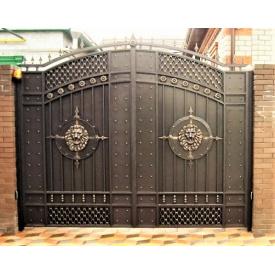 Ворота кованые закрытые со львами Б0037зк Legran