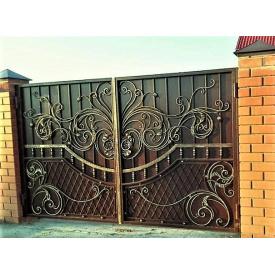 Ворота кованые Б0029зк ажурные Legran