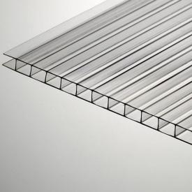 Поликарбонат сотовый POLYGAL 6мм прозрачный
