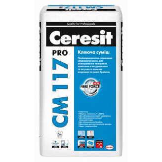 CM117 Pro Клей підвищеної міцності для плитки і натурального каменю 27 кг