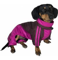 Дождевик для такс Dogs Bomba 2 Бордово-Малиновый (MT-7/2)