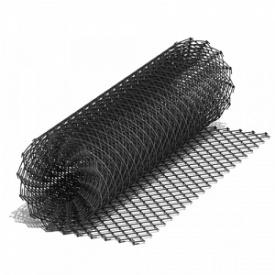 Рабица 55х55х2 мм 10х1,5 м чорна