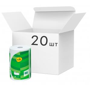 Упаковка бумажных полотенец Ecolo 120 отрывов 2 слоя Белые 20 рулонов