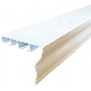 Карниз алюминиевый Алютерра Двухрядный 400 см Белый (801028 400 см)