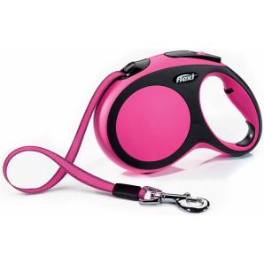 Поводок-рулетка Flexi New Comfort L 5 м Розовый