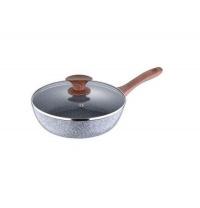 Сковорода глибока з кришкою 24 см Bergner BG-7973