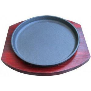 Сковорода 19 см чугунная, с деревянной подставкой Empire М-9934