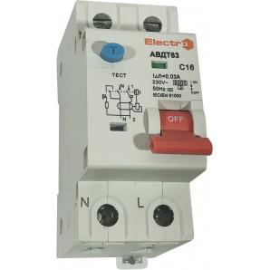 Дифференциальный автомат ElectrO АВДТ63 1+N 20А 30 мА С