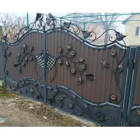 Ворота ковані з профнастилом Б0044пф Legran
