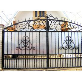 Ворота кованые с профнастилом Б0046пф Legran