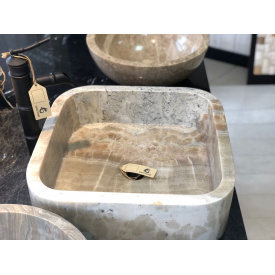 Раковина з натурального цільного Onyx Grey