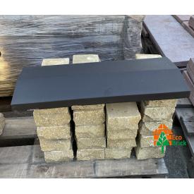 Конек для забора бетонный 360х680 мм черный