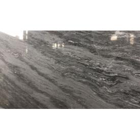 Темно сірий мармур Грей Хурикане в слябі