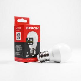 Лампа светодиодная ETRON Light Power 1-ELP-041 G45 8W 3000K 220V E27