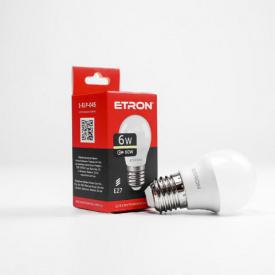 Лампа светодиодная ETRON Light Power 1-ELP-045 G45 6W 3000K 220V E27