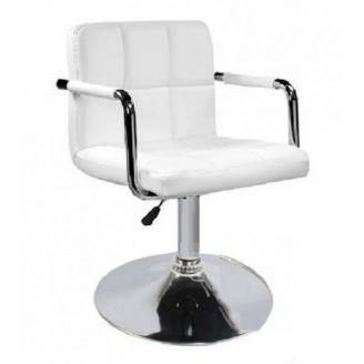 Кресло Артур SDM 720-840х450х420 мм экокожа цвет белый