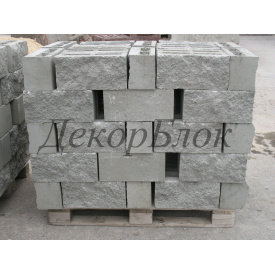 Блок Декоративный Колотый 390 х H188 х 140 СЕРЫЙ (подд84шт)