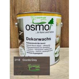 Масло с воском Osmo Decorwachs 2.5л Серый гранит 3118