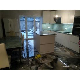 Столешница для кухни мрамор зеленого цвета 3200х620х20мм