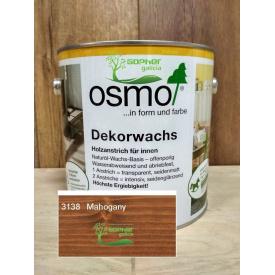 Олія з воском Osmo Decorwachs 2.5 л 3138 Mahagani Махагон