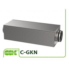 Шумоглушитель канальный прямоугольный для круглых каналов C-GKN