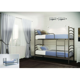 Кровать двухъярусная Маргарита 90 Металл-дизайн металлическая