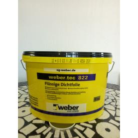 weber tec 822 (24 кг колір-рожевий) Еластична напіврідка гідроізоляційна мастика готова до нанесення