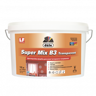Фарба базова ПІД колеровку Super Mix B3 (прозора) 1л ДЮФА