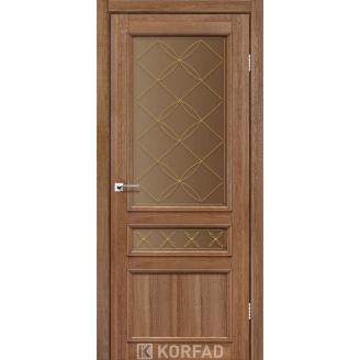 Двери межкомнатные Liberty doors LIGHT Рейс blk 600х2000 мм Дуб шоколадный