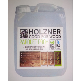 Лак полиуретановый на водной основе Holzner Parquet PRO Plus 5л