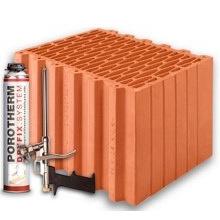 Керамические блоки Porotherm Klima Dryfix 38
