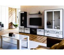 Гостиная Терра белый глянец + черный мат Миро-Марк