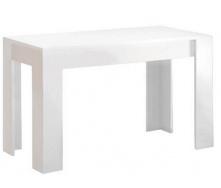 Стіл обідній Віола 120х65 білий глянець + чорний мат Миро-Марк