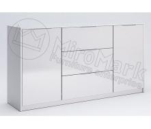 Комод Рома 2Д 3Ш 1,6 м білий глянець Миро-Марк