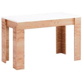 Стіл обідній Асті 120х65 білий глянець / дуб крафт Миро-Марк