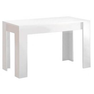 Стіл обідній Терра 120х65 білий глянець + чорний мат Миро-Марк