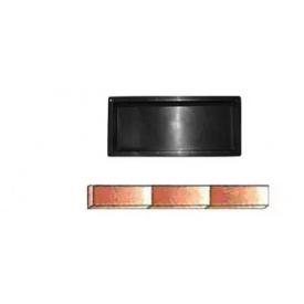 Форма для тротуарной плитки Бордюр пластмассовая 4,5 см 50х21 см