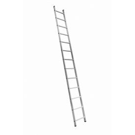 Алюминиевая односекционная приставная усиленная лестница на 13 ступеней (полупрофессиональная)