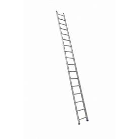 Алюминиевая односекционная приставная лестница на 17 ступеней (универсальная)