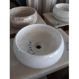 Мойка из мрамора 500х160 мм с отверстием для слива воды