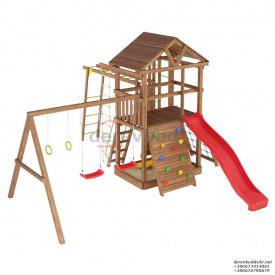 Деревянный детская площадка WOODEN TOWN №07 Д * Ш * В - 4,4м * 3,3м * 3,5М