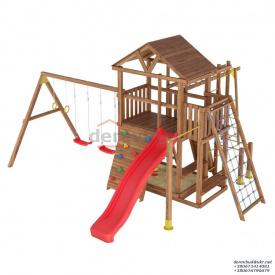 Деревянный детская площадка WOODEN TOWN №10 Д * Ш * В - 6,7м * 6,3м * 3,5М