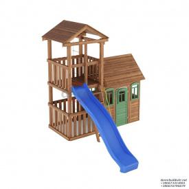 Деревянный детская площадка WOODEN TOWN №06 Д * Ш * В - 4,4м * 3,3м * 3,5М