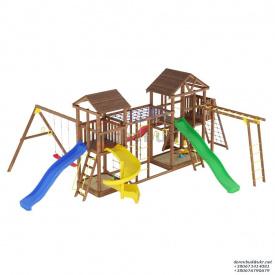 Деревянный детская площадка WOODEN TOWN №16 10М * 7,3м * 3,5М