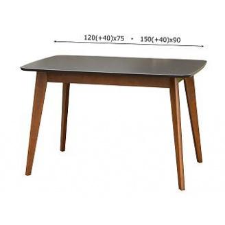 Стіл обідній Модерн Мікс Меблі 150 (+40) х90 бук венге