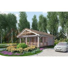 Будинок з профільованого бруса 140х180 мм Проект D-09 7,1 x 6,4 м