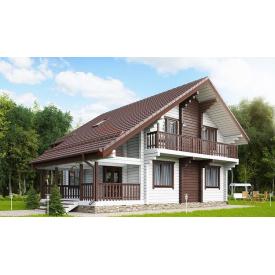 Будинок з профільованого бруса 140х180 мм Проект E-12 10,45 x 10,45