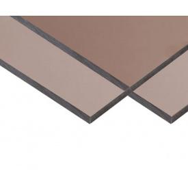 Монолитный поликарбонат клас Premium 2050x3050x3 мм бронза